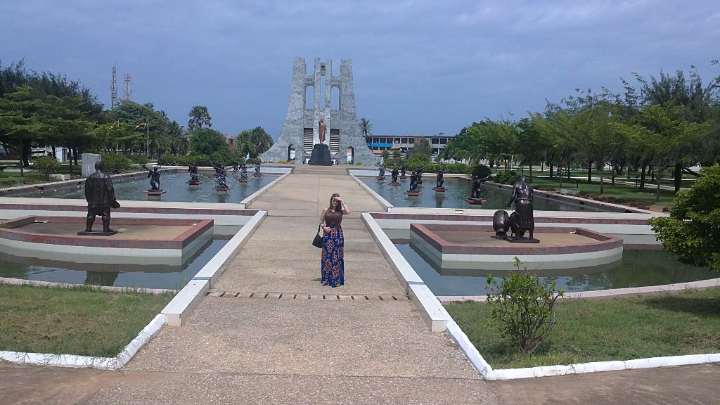 The Kwame Nkrumah mausoleum and memorial park in Accra ...