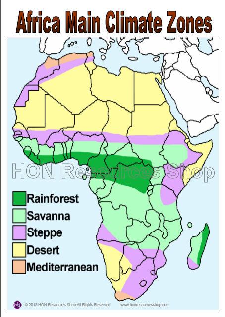 Sub Saharan Africa Climate Map.Africa Map Climate Jackenjuul