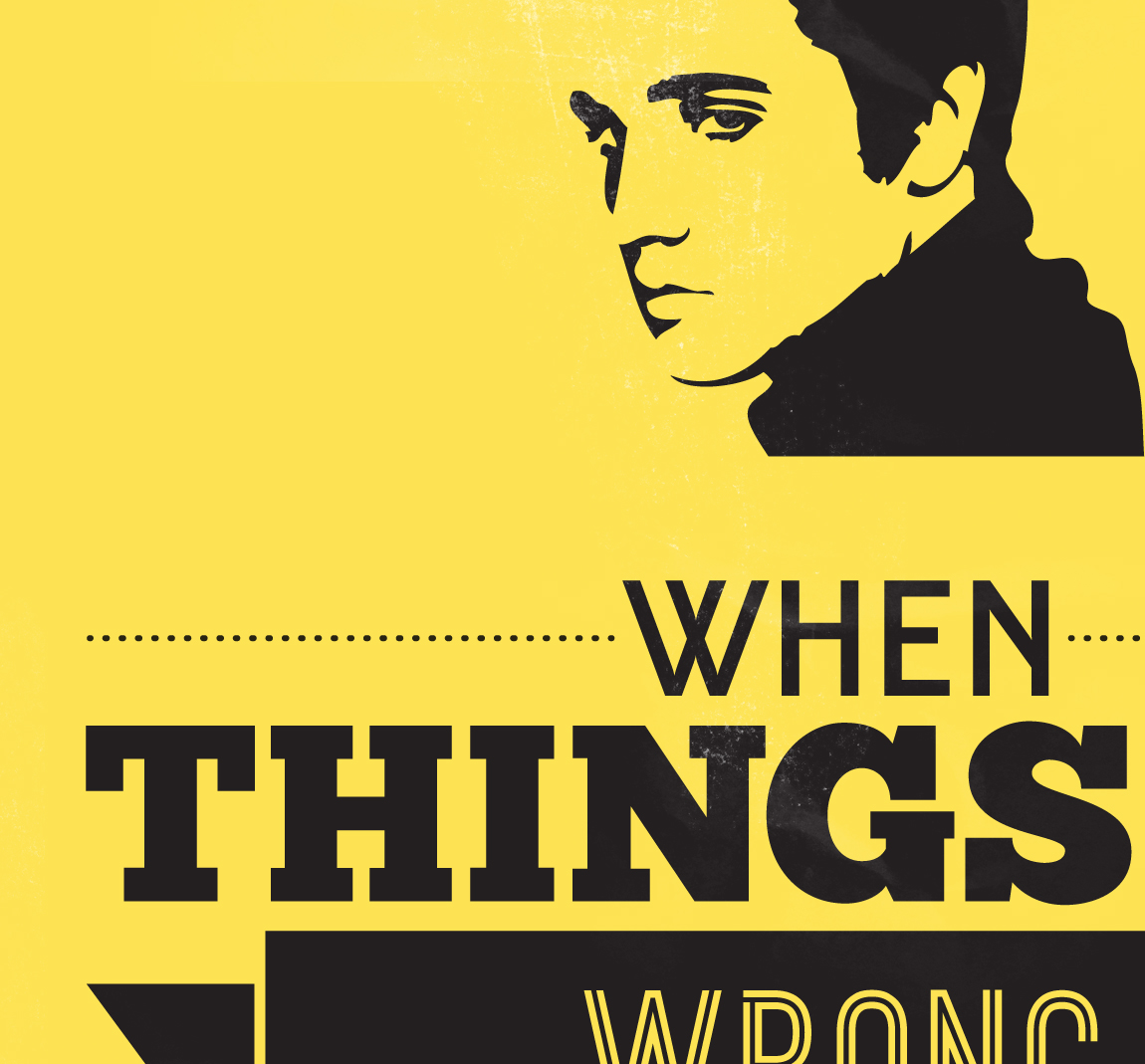 04 Yellow Elvis Presley When Things Go Wrong Quote Art Print Lindsey