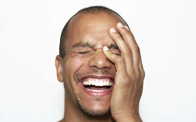 Black Man Laughing