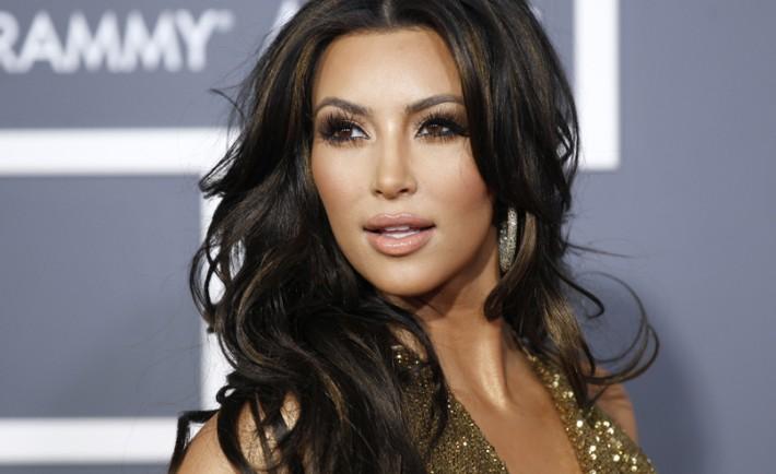 Kim Kardashian's eyebrow game is on point.