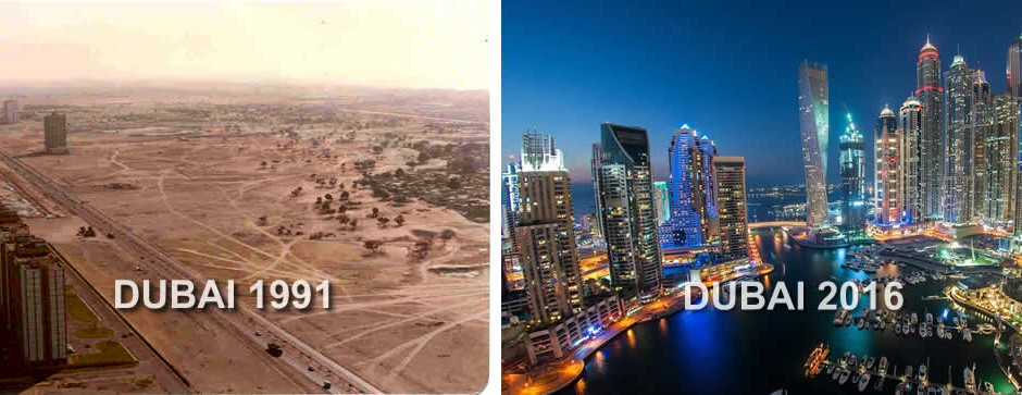 Amazing Transformation: Picture of Dubai in 1991 And 2016 ...