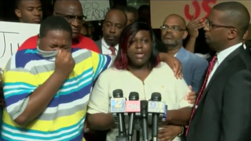 Alton Sterling, Alton Sterling's son crying
