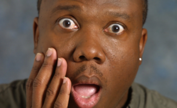 shocked black man