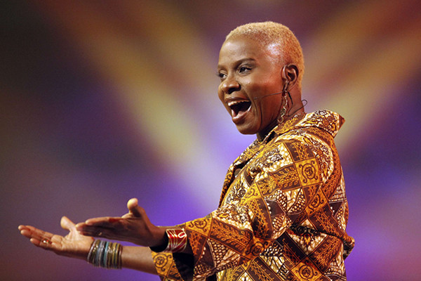 Angélique Kidjo singing