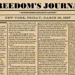 Freedom's Journal , The First Black Newspaper