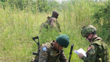 UN soldiers on a search