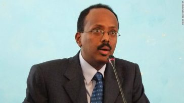 President Mohamed Abdullahi speaking