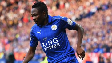 ahmed musa in action for leicester city