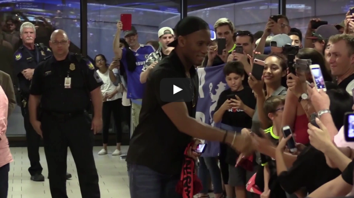 Discover The Warm Welcome Of Didier Drogba In His New Club In The USA