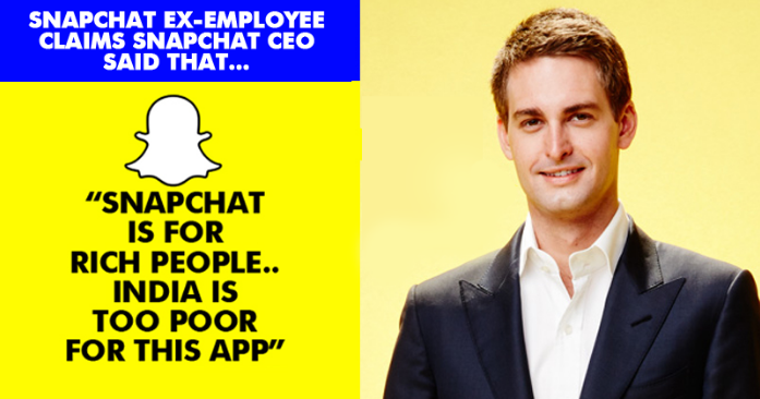 """Snapchat Is Only For Rich People,"" -Snapchat CEO, Evan Spiegel"