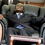 Robert Mugabe, Sleeping, On The Chair