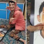 Talented Disabled Woman Draws Portraits Of Cristiano Ronaldo With Her Feet