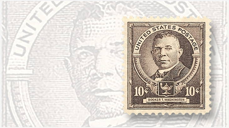 Booker T. Washington ,First African-American on a U.S. Postage Stamp