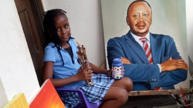 Meet Sheila Sheldone, the Young Artist Who Amazes Art Lovers in Kenya | How Africa News