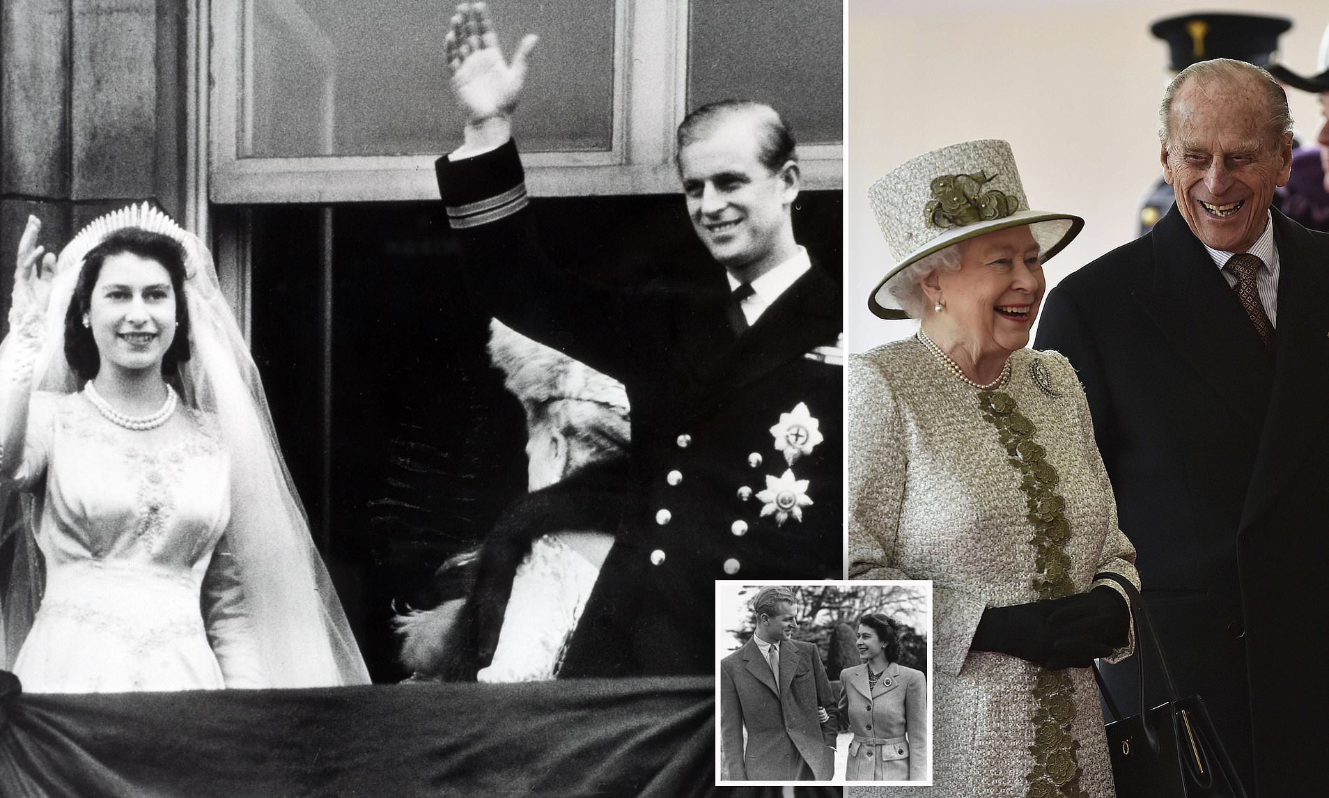 Royal Family Celebrates Queen Elizabeth, Prince Philip's 72nd ...